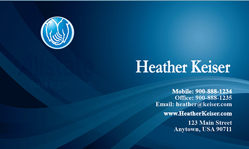 Blue Allstate Business Card - Design #201011