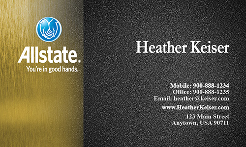Yellow Allstate Business Card - Design #201043