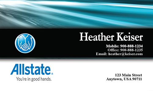 Blue Allstate Business Card - Design #201051