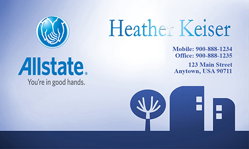 Blue Allstate Business Card - Design #201061