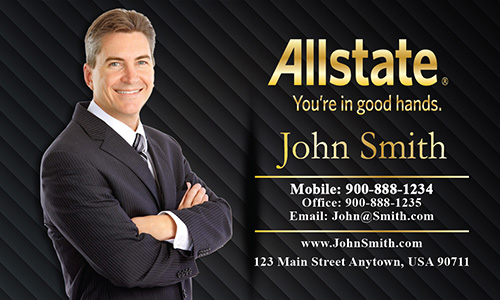 Black Allstate Business Card - Design #201111