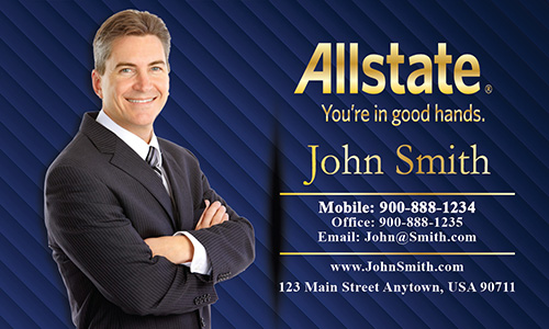 Blue Allstate Business Card - Design #201112