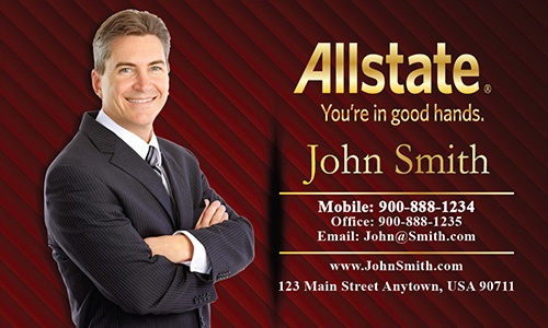 Red Allstate Business Card - Design #201113