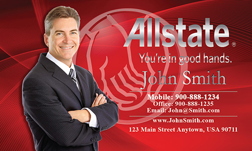 Red Allstate Business Card - Design #201132