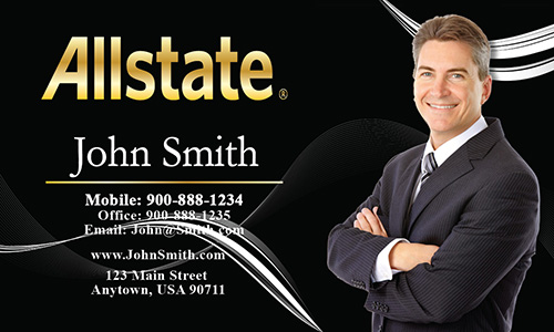 Black Allstate Business Card - Design #201152