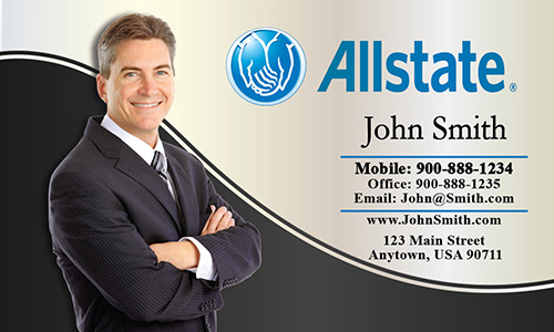 White Allstate Business Card - Design #201161