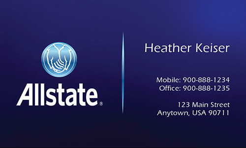 Blue Allstate Business Card - Design #201201