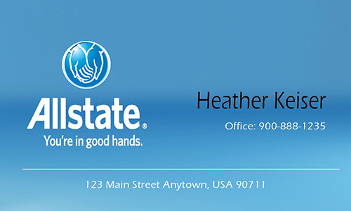 Blue Allstate Business Card - Design #201261