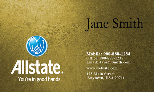 Yellow Allstate Business Card - Design #201274