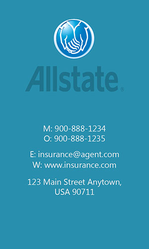Blue Allstate Business Card - Design #201313