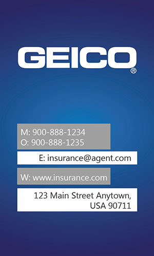 Blue Geico Business Card - Design #203011