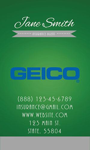 Green Geico Business Card - Design #203054
