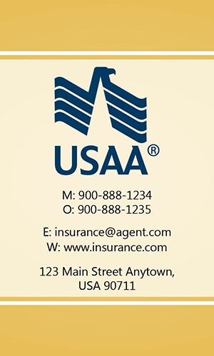 Yellow USAA Business Card - Design #205035