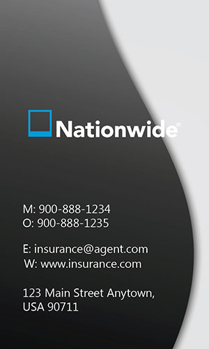 White Nationwide Business Card - Design #206022