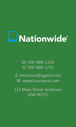 Green Nationwide Business Card - Design #206042