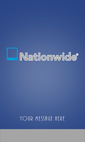 Nationwide Insurance Vertical Blue Business Card - Design #206051