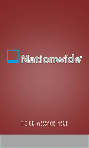 Nationwide Insurance Vertical Red Business Card - Design #206052