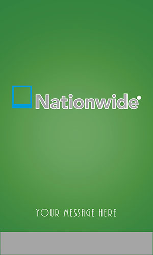 Nationwide Insurance Vertical Green Business Card - Design #206054