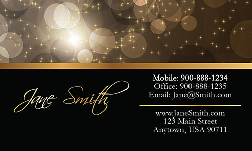 Yellow Event Planning Business Card - Design #2301101