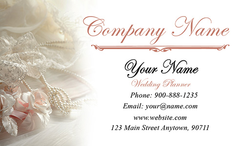 White Event Planning Business Card - Design #2301131