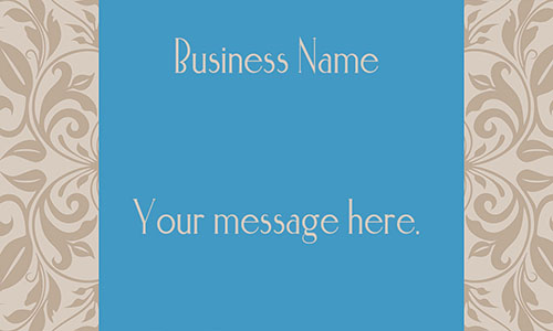 Blue Florist Business Card - Design #2401101