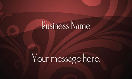 Red Florist Business Card - Design #2401135