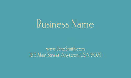 Blue Florist Business Card - Design #2401181