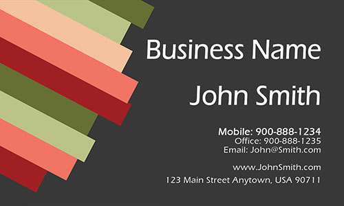 Black Marketing Business Card - Design #2601011