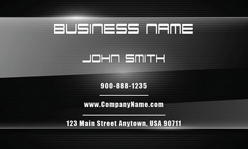 Black Marketing Business Card - Design #2601121