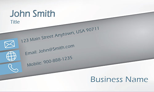 Blue Marketing Business Card - Design #2601161