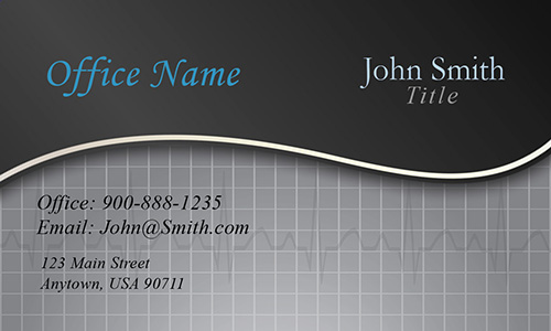 Black Medical Health Care Business Card - Design #301151