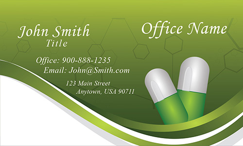 Drug and Pharmacy Business Card - Design #301181