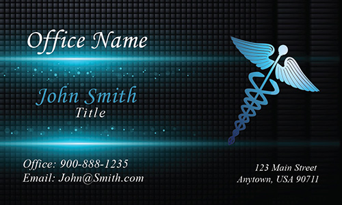 Vivid Medical Symbol Doctor Business Card - Design #301211
