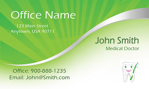 Green Dental and Medical Business Card - Design #301371