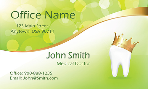 Green Orthodontic Tooth Business Card - Design #301381