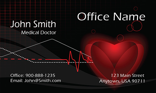 Cardiologist Doctor Business Card - Design #301481