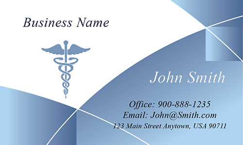Blue Medical Business Card - Design #301541