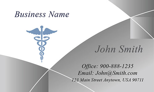 Gray Medical Business Card - Design #301543