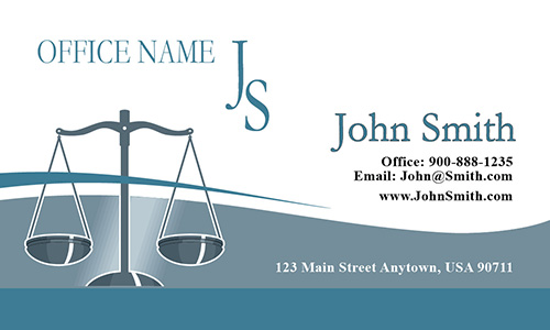 Classic Scales of Justice Lawyer Business Card - Design #401061