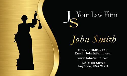 Lawyer Attorney Symbol Civil Rights Attorney Business Card - Design #401151