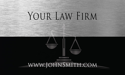 Business and Corporate Law Attorney Business Card - Design #401191