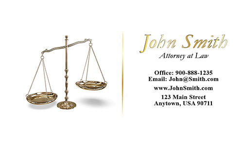 Bankruptcy Lawyer White Business Card - Design #401221