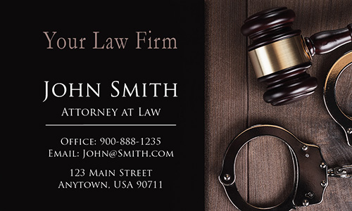 Criminal Defense Attorney Business Card - Design #401241