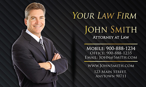 Custom Legal Visiting Business Card with Personal Photo - Design #401291