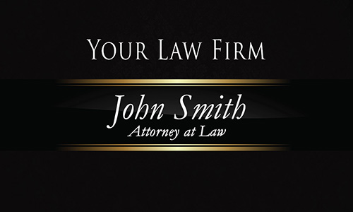 Luxury Black Law Firm Business Card - Design #401301