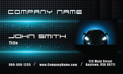 Glowing Car Auto Dealership Business Card - Design #501091