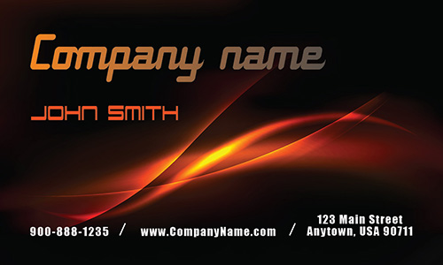 Black and Fire Auto Business Card - Design #501121