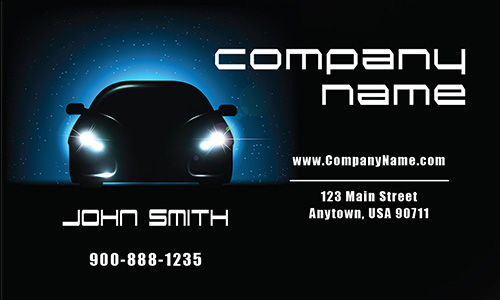 Bold Automotive Themes Business Card - Design #501151