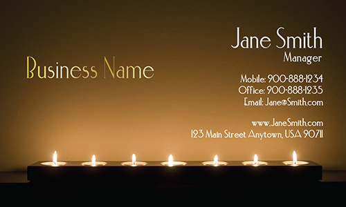 Candles Spa and Massage Business Card - Design #601011