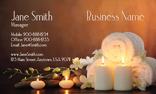 Relaxing Massage and Spa Business Card - Design #601081